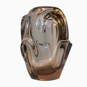 Mid-Century Freeform Glass Vase by Jan Beránek for Škrdlovice, 1950s