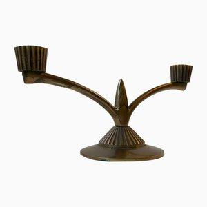 Danish Art Deco Candelabra in Bronze from Tinos, 1930s