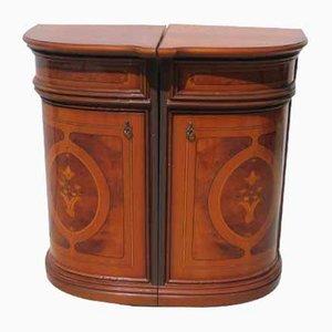 Italian Corner Cabinets, Set of 2
