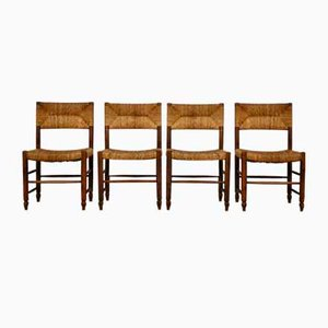 Chairs in the Style of Charlotte Perriand, 1950s, Set of 4