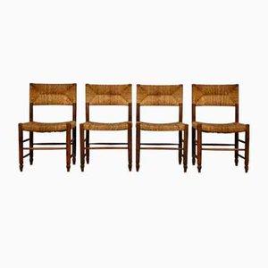 Stühle im Stil von Charlotte Perriand, 1950er, 4er Set