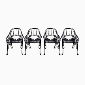 Cast Iron Chairs, 1970s, Set of 4