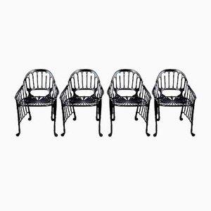 Stühle aus Gusseisen, 1970er, 4er Set