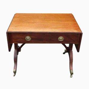 Mahogany Sofa Table with Inlay, 1900s