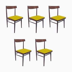Mid-Century Dining Chairs, Denmark, 1970s, Set of 5