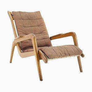 Oak Lounge Chair by Jan Vanek, Czechoslovakia, 1960s