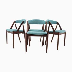 Modell 31 Esszimmerstühle aus Teak von Kai Kristiansen für Shou Andersen, Dänemark, 1960er, 4er Set