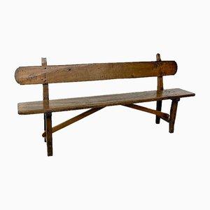 Antique Spanish Oak Farmhouse Bench