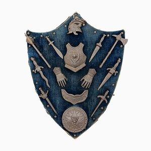 Antike Miniatur Armlehnständer aus Gusseisen