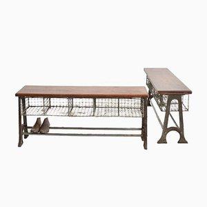 Vintage School Pigeon Hole Bench