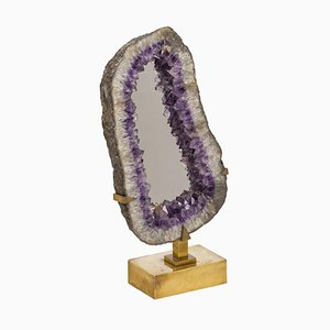 Amethyst Mirror by Willy Daro, 1970s