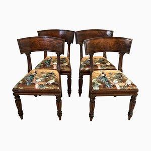 Early 19th Century Mahogany Library Chairs, Set of 4