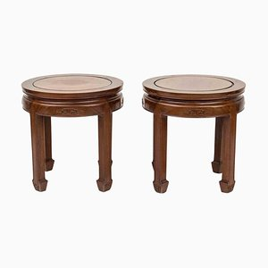 Wooden Low Tables, China, Mid-20th Century, Set of 2