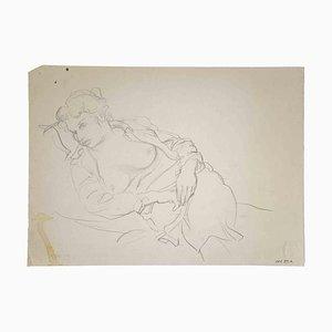 Leo Guida, Reclined Figures, Original Pencil Drawing, 1970s