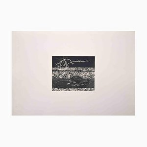 Leo Guida, Rat on the Border, Original Etching, 1971