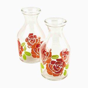 Vases en Verre, Italie, 1970s, Set de 2