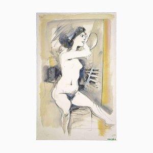 Leo Guida, weibliche Figur, Originalzeichnung, 1970er