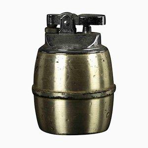Vintage Messing & Metall Feuerzeug, Italien, Mitte 20. Jh