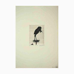 Leo Guida, The Nest, Original Etching, 1970