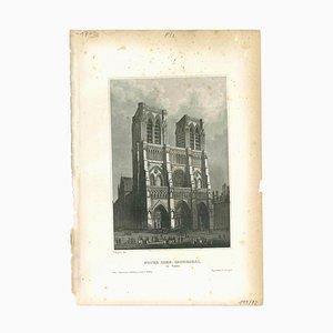 Unknown, Notre Dame, Original Lithograph, Mid 19th-Century