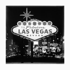 Welcome, Las Vegas, American Black and White Photograph, 2001-2021