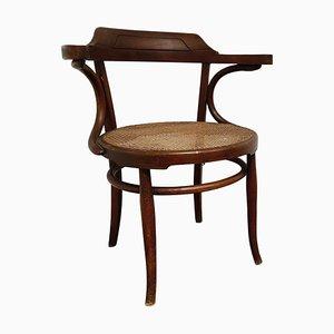 Antiker Bugholz Armlehnstuhl oder Bistrostuhl, 1950er