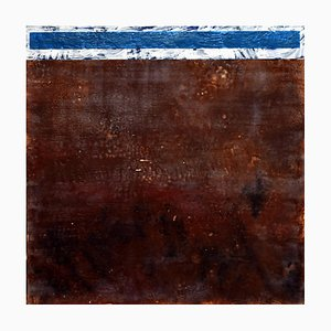 Andrew Francis, Sky Box, Abstract Encaustic Painting, 2019