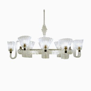 Chandelier with 8 Arms by Ercole Barovier, Italy, 1940s