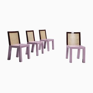 Postmodern Pink Dining Chairs by Ettore Sottsass for Leitner, Set of 4