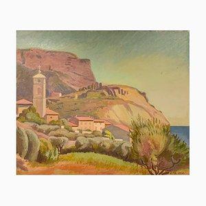 Armand Cacheux, L'église et le Cap Canaille, Cassis, 1900s