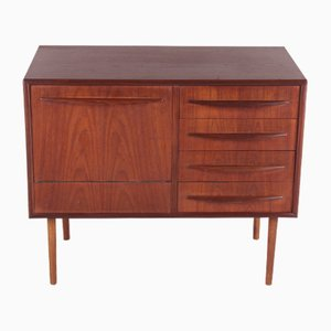 Buffet or TV Cabinet with 4 Drawers in Teak, Denmark, 1960s