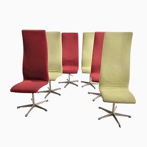Sedie Oxford di Arne Jacobsen, set di 6