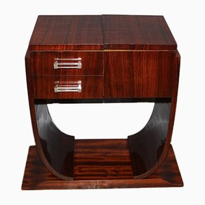 Art Deco Console Table in Rosewood and Maple