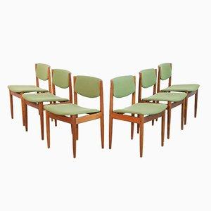 Sedie da pranzo di Finn Juhl per France & Søn, Danimarca, anni '60, set di 6