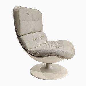 Leather Swivel Armchair
