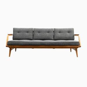 Sofá cama de cerezo, años 50