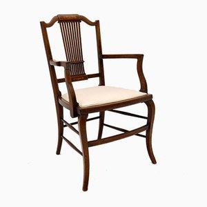 Antique Edwardian Inlaid Armchair