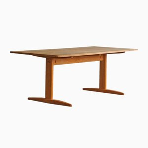 Mid-Century Danish Shaker Dining Table in Solid Oak by Børge Mogensen for C. M. Madsen, 1960s