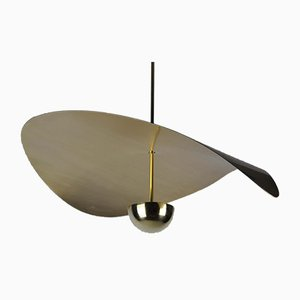 Large Handmade Bonnie Led Sculptural Pendant in Solid Brass by Matt Holleman for Ovature Studios