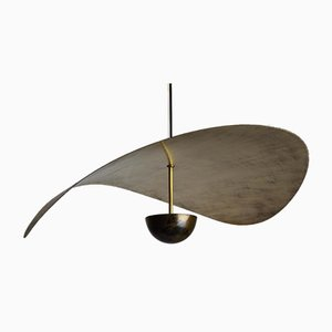 Large Handmade Bonnie Led Sculptural Pendant in Tarnished Bronze by Matt Holleman for Ovature Studios