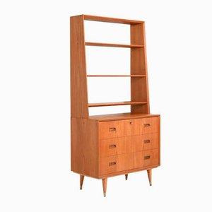 Scandinavian Teak Bookcase, 1950s