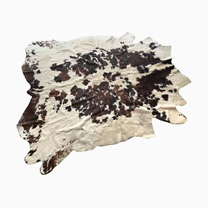Leather Cowhide Carpet, Italy, 1970s