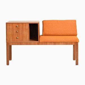 Gossip Chair Phone Bench with Orange Padding