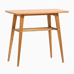 Teak Coffee Table with Magazine Rack