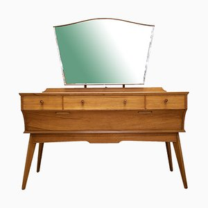Vintage Walnut Dressing Table by Alfred Cox for Heals, 1960s
