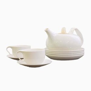 Lotus Teeservice von Ross Lovegrove für Driade, 7er Set