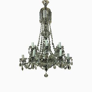 English Glass Chandelier, 1950s