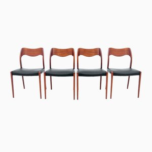 Danish Chair by Niels Otto (N. O.) Møller, 1960s, Set of 4