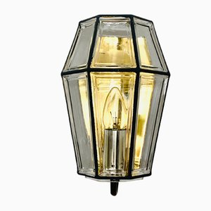 Brass and Glass Sconce from Limburg, 1960s