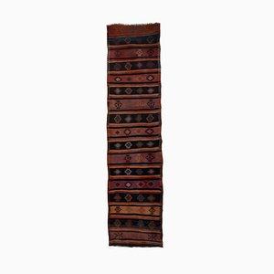 Long Vintage Kurdish Runner Rug, Turkey